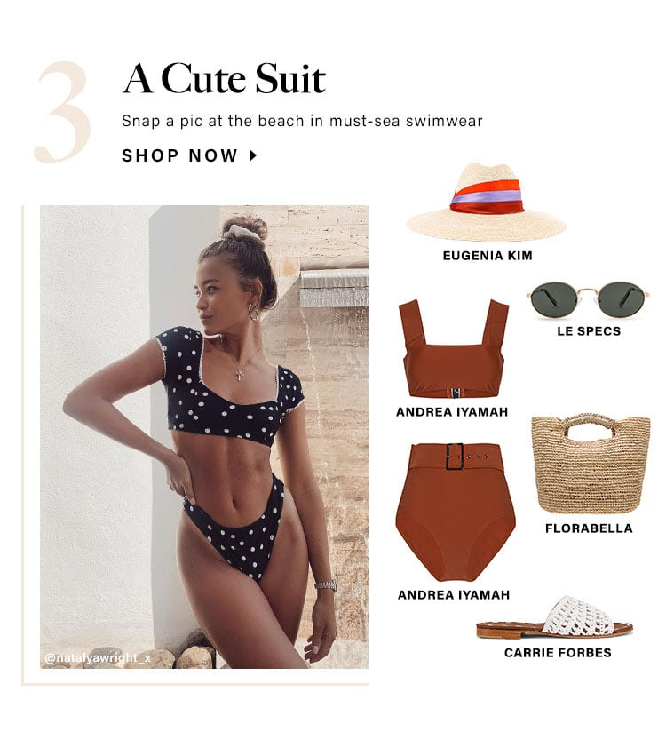 A Cute Suit. Snap a pic at the beach in must-sea swimwear. Shop now.