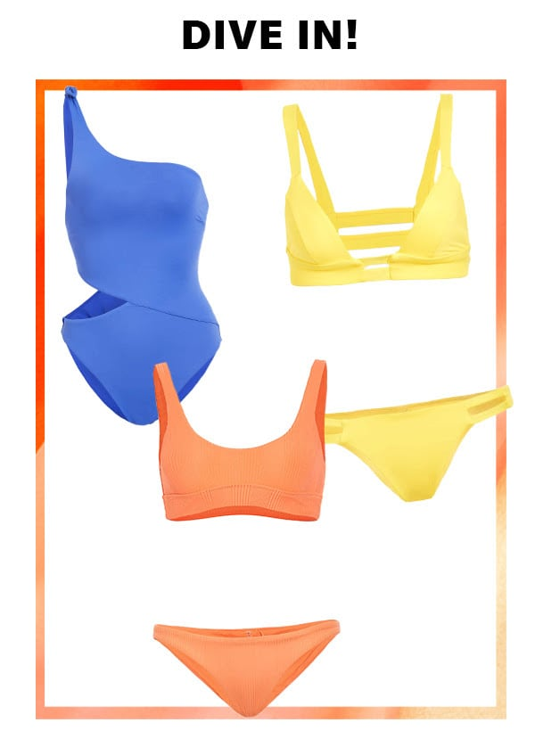 New from Vitamin A: sleek bikinis, cutout one-pieces, and more pool-day styles.