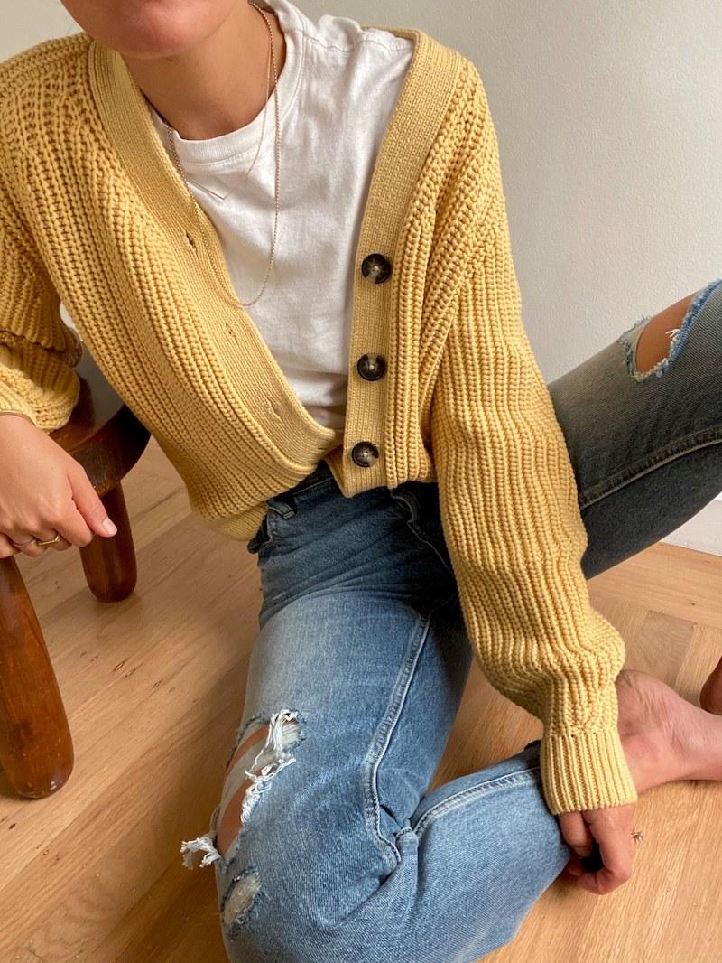 Everlane Texture Cotton Cardigan