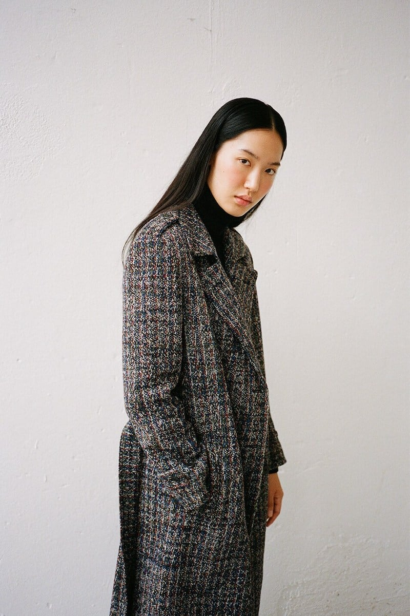Missoni Wool Blend Knit Double Breast Coat