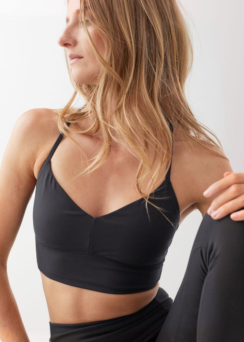 & Other Stories Halter Yoga Bra