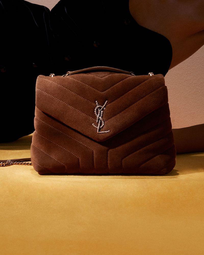 Saint Laurent Loulou Small Suede Shoulder Bag