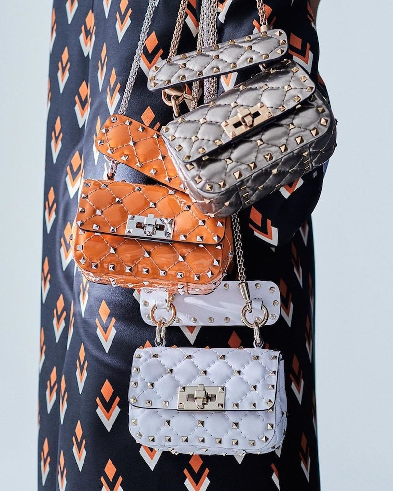 Valentino Garavani Rockstud Spike Micro Crossbody Bag