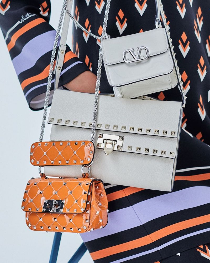 Valentino Garavani VSLING Mini Patent Leather Shoulder Bag