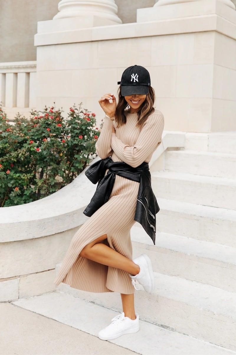 WAYF x BFF Hollie Long Sleeve Sweater Dress