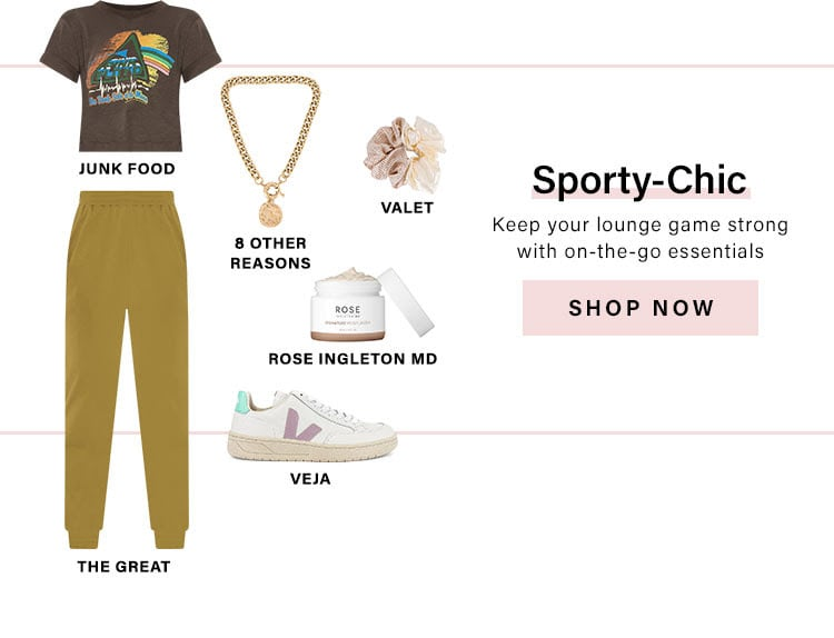 Sporty-Chic. Keep your lounge game strong with on-the-go essentials. Shop Now