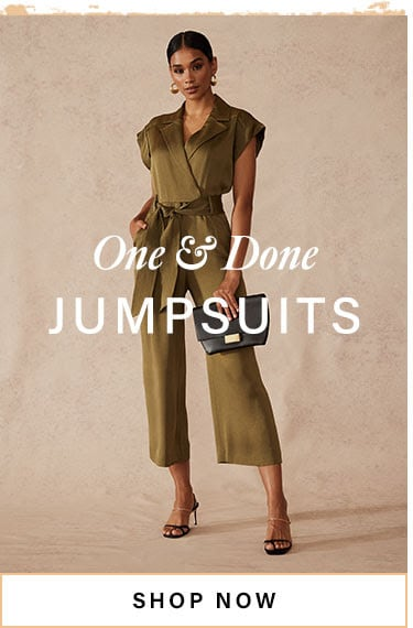 One & Done Jumpsuits. Shop Now