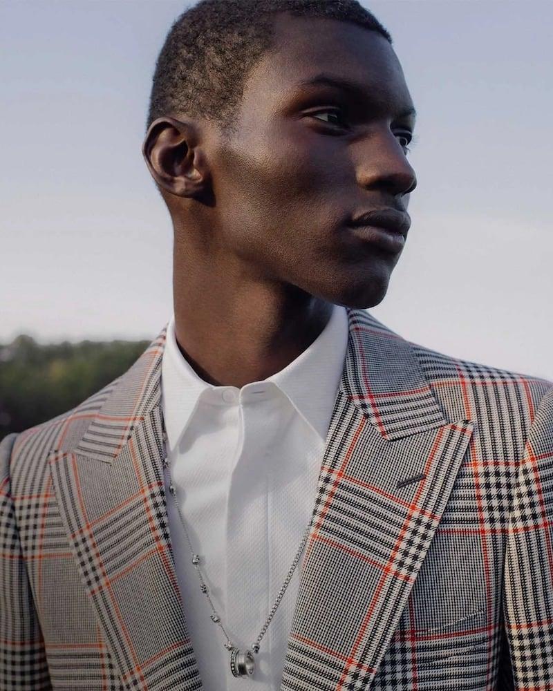 Alexander McQueen Bi-Colour Glen-Check Wool-Twill Suit Jacket