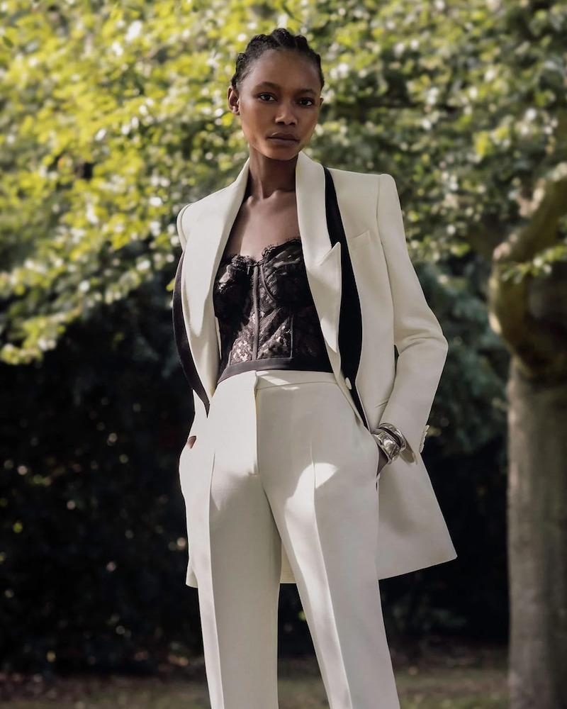 Alexander McQueen Double-Lapel Wool-Blend Twill Jacket