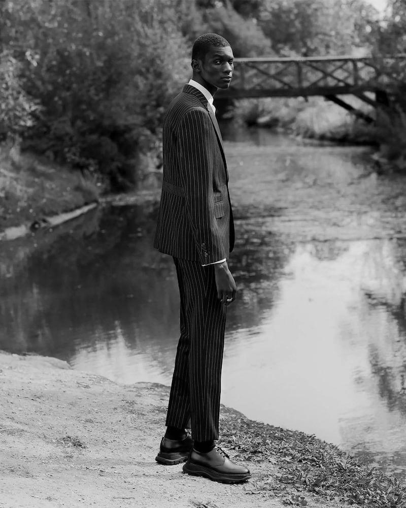 Alexander McQueen Pinstriped Single-Breasted Wool Jacket