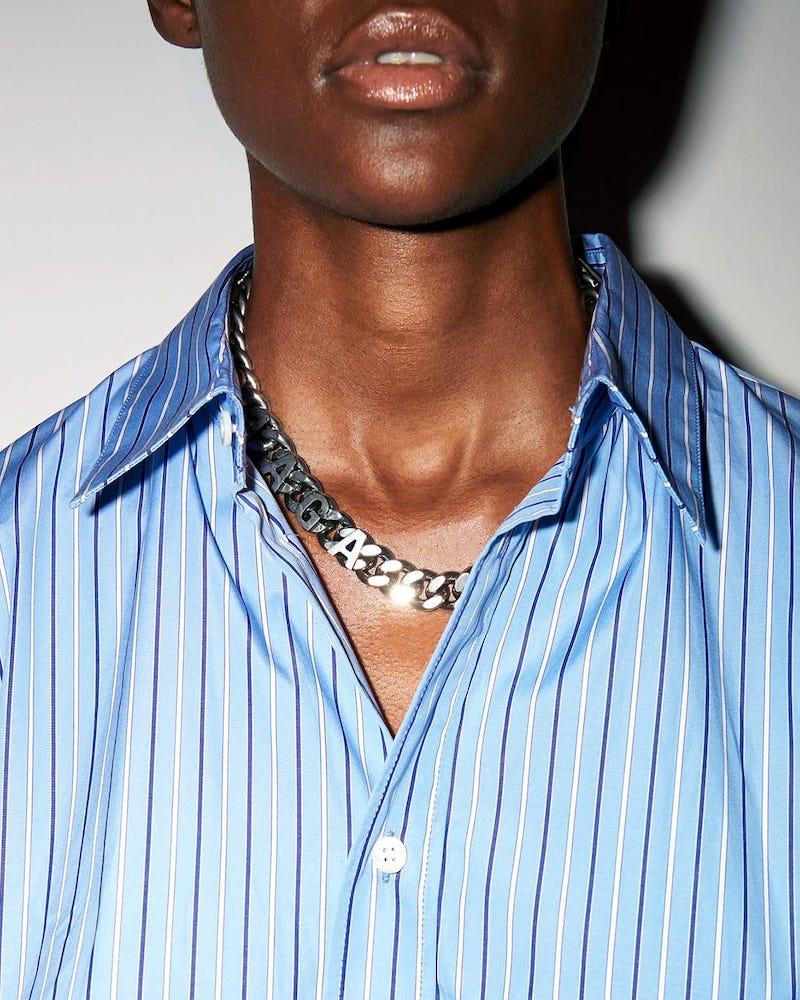 Balenciaga Logo-Chain Choker Necklace