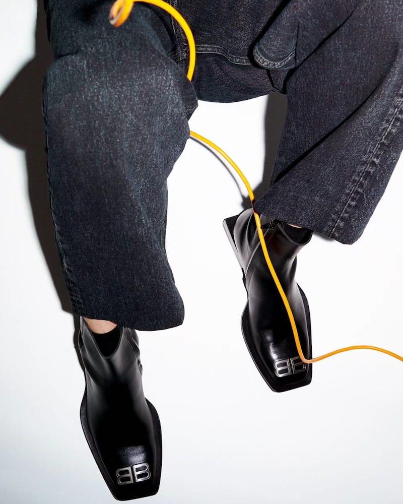 Balenciaga Square-Toe Boots