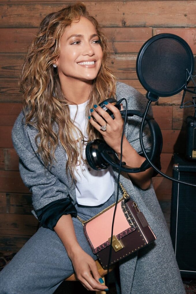 COACH x Jennifer Lopez Hutton Colorblock Leather & Genuine Snakeskin Convertible Shoulder Bag