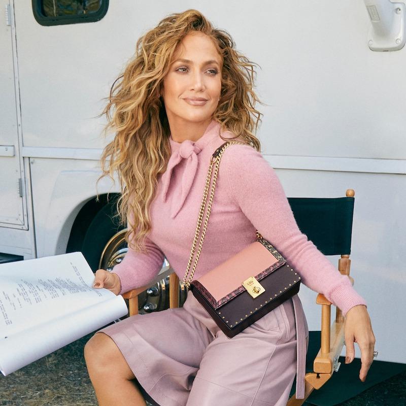 COACH x Jennifer Lopez Hutton Colorblock Leather & Genuine Snakeskin Convertible Shoulder Bag 1