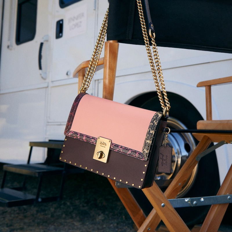 COACH x Jennifer Lopez Hutton Colorblock Leather & Genuine Snakeskin Convertible Shoulder Bag 3