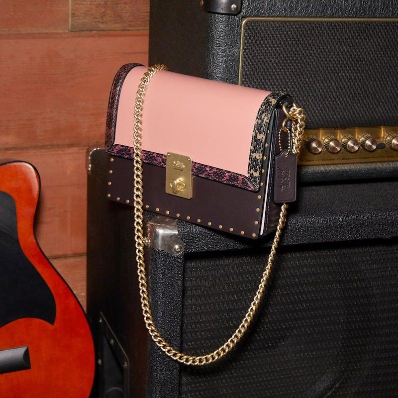 COACH x Jennifer Lopez Hutton Colorblock Leather & Genuine Snakeskin Convertible Shoulder Bag 4