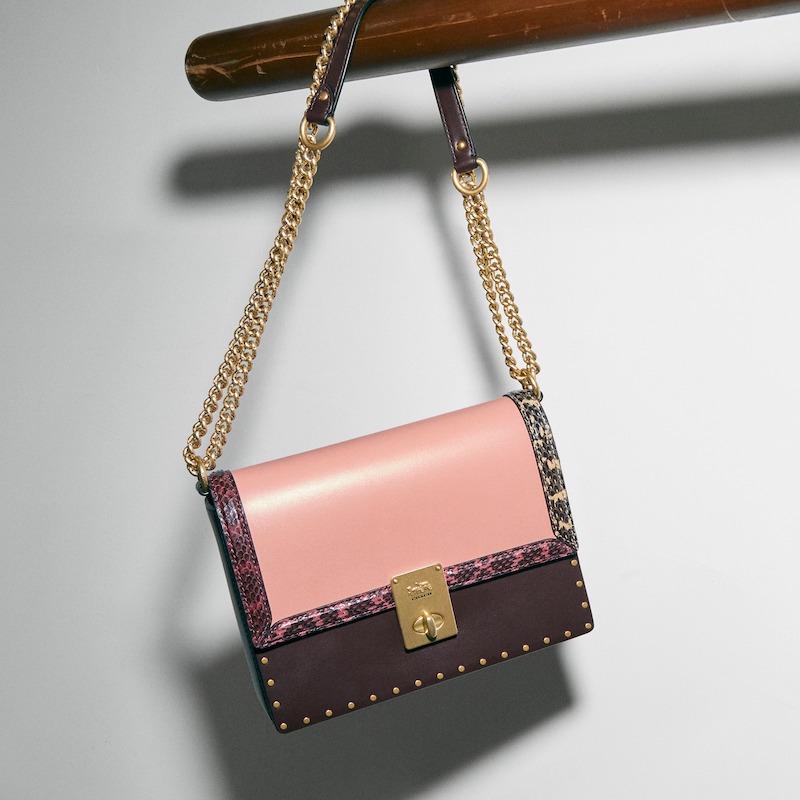 COACH x Jennifer Lopez Hutton Colorblock Leather & Genuine Snakeskin Convertible Shoulder Bag 5