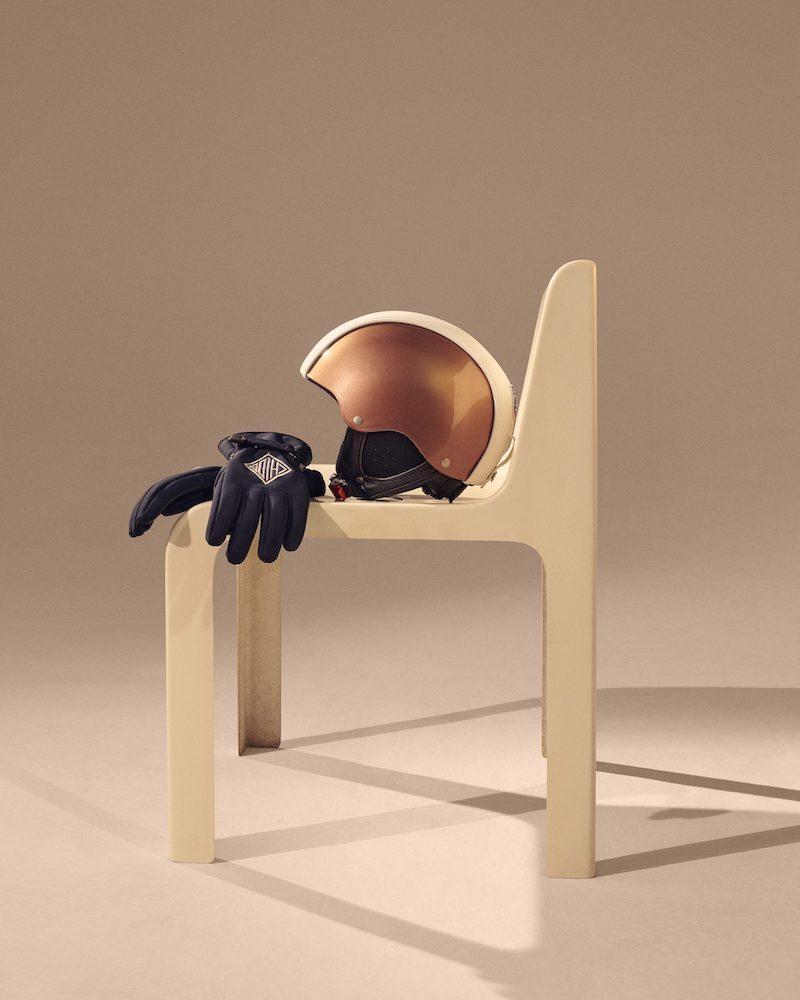 Chloé x Fusalp Embroidered Leather-Paneled Ski Helmet