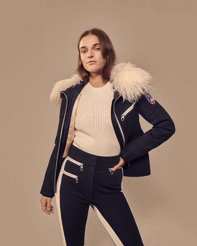 Chloé x Fusalp Shearling-Trimmed Quilted Ski Jacket