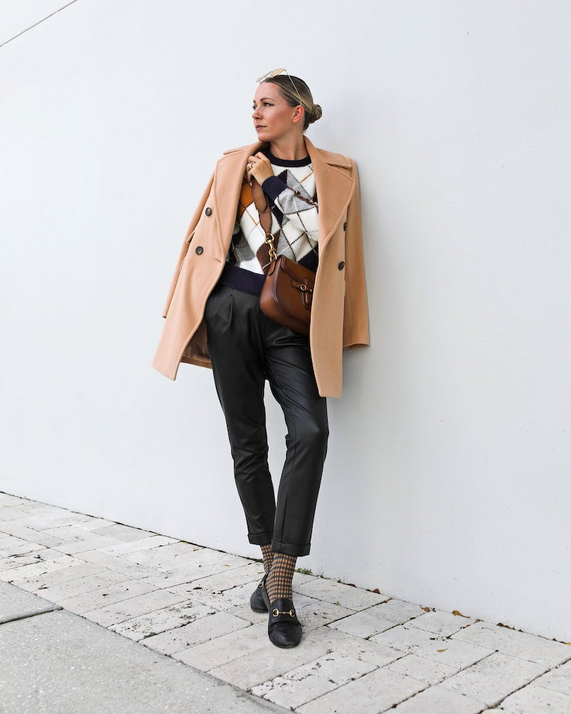 Halogen x Atlantic-Pacific Faux Leather Trousers