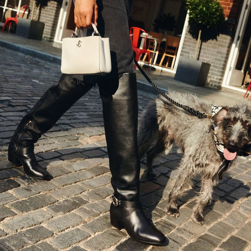 JIMMY CHOO BECA OTK 45 Black Smooth Leather Over-the-Knee Boots