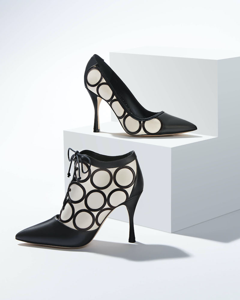 Manolo Blahnik Fanku Point-Toe Printed Leather Lace-Up Stiletto Ankle Boot