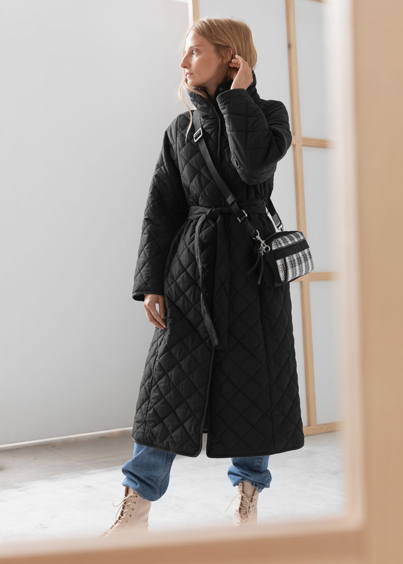 & Other Stories Belted Quilted Coat