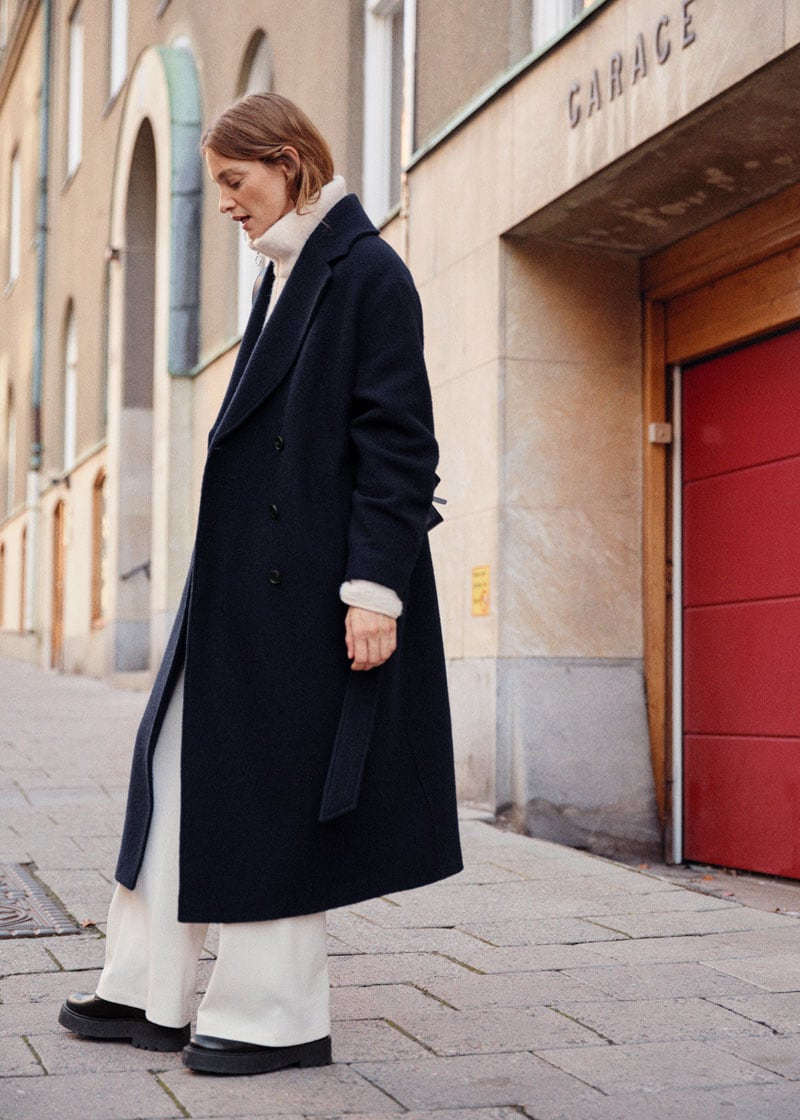 & Other Stories Belted Voluminous Wool Coat