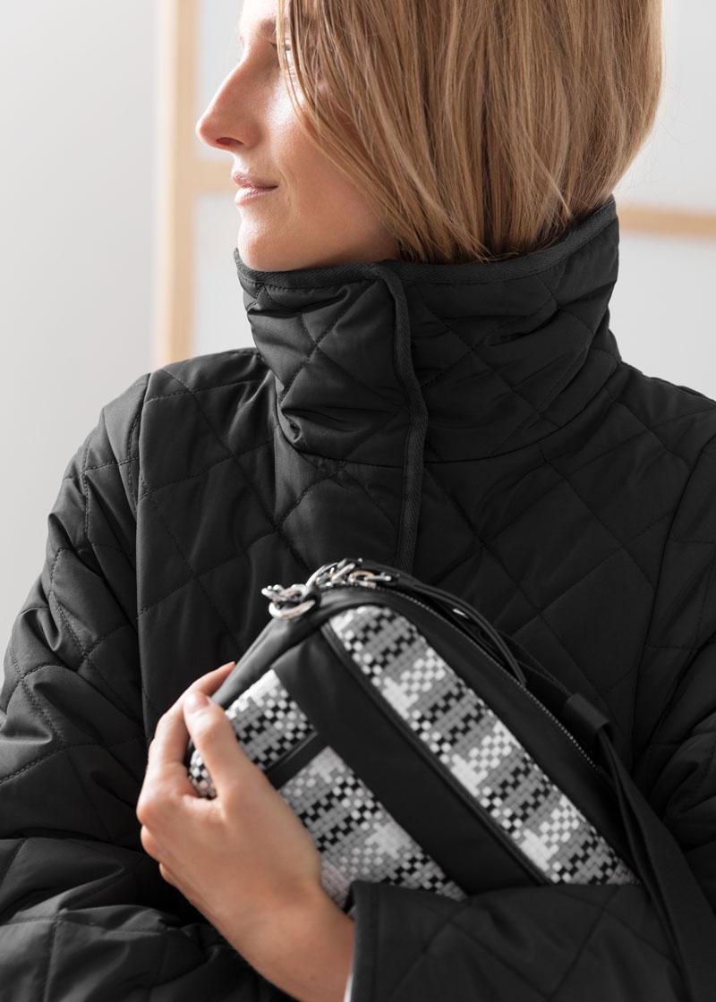 & Other Stories Braided Nylon Crossbody Bag