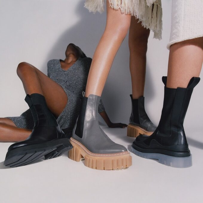 Stella McCartneyEmilie Vegetarian Leather Platform Chelsea Boots