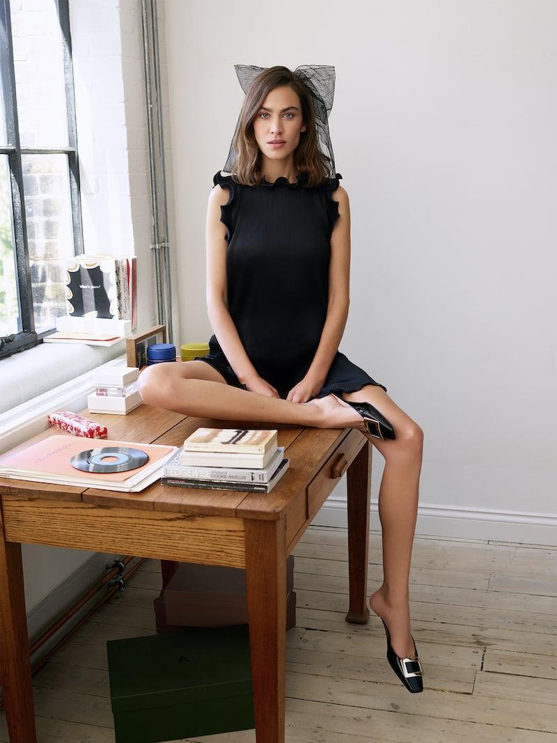 THE Marc Jacobs Ruffled Plissé Stretch-Satin Mini Dress