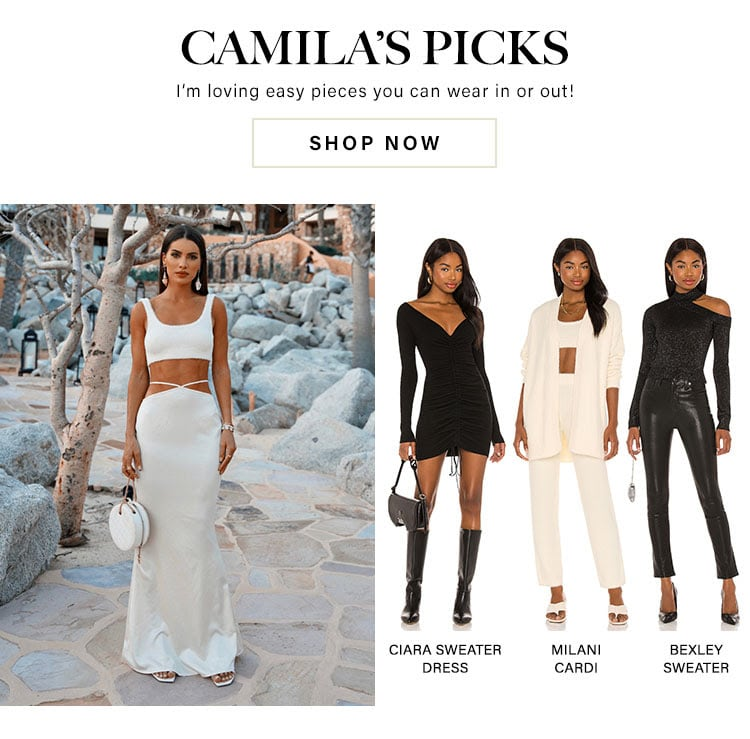 Camila's Picks. I'm Loving easy pieces you can wear in or out! Shop now.