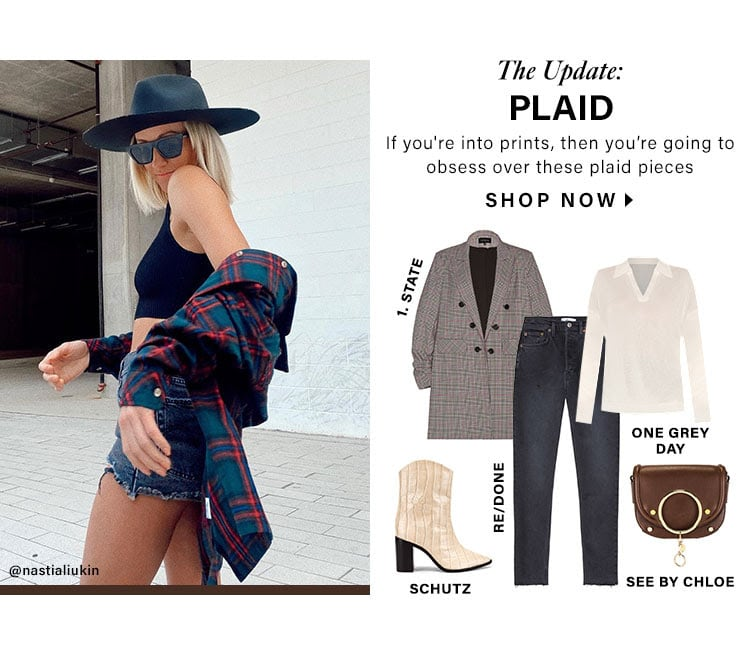 The Update: Plaid. If you're into prints, then you're going to obsess over these plaid pieces