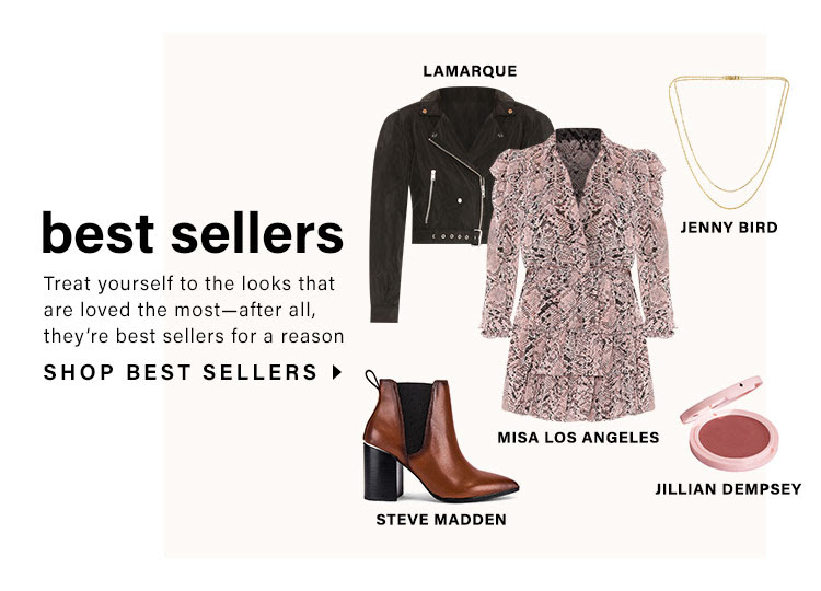 Best Sellers. Treat yourself to the looks that are loved the most—after all, they're best sellers for a reason. Shop Best Sellers