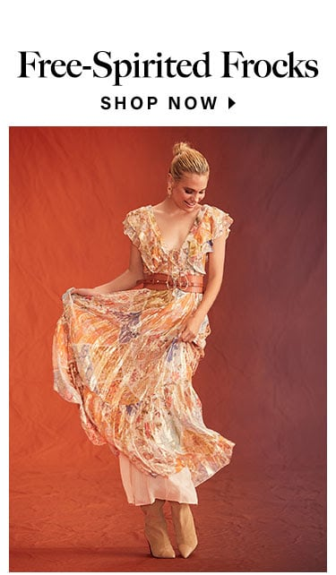 Free-Spirited Frocks. Shop now.