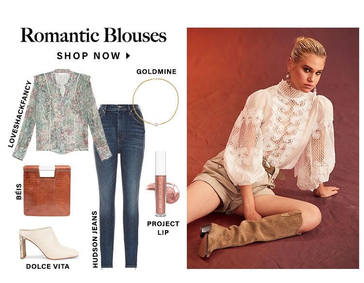 Romantic Blouses. Shop now.