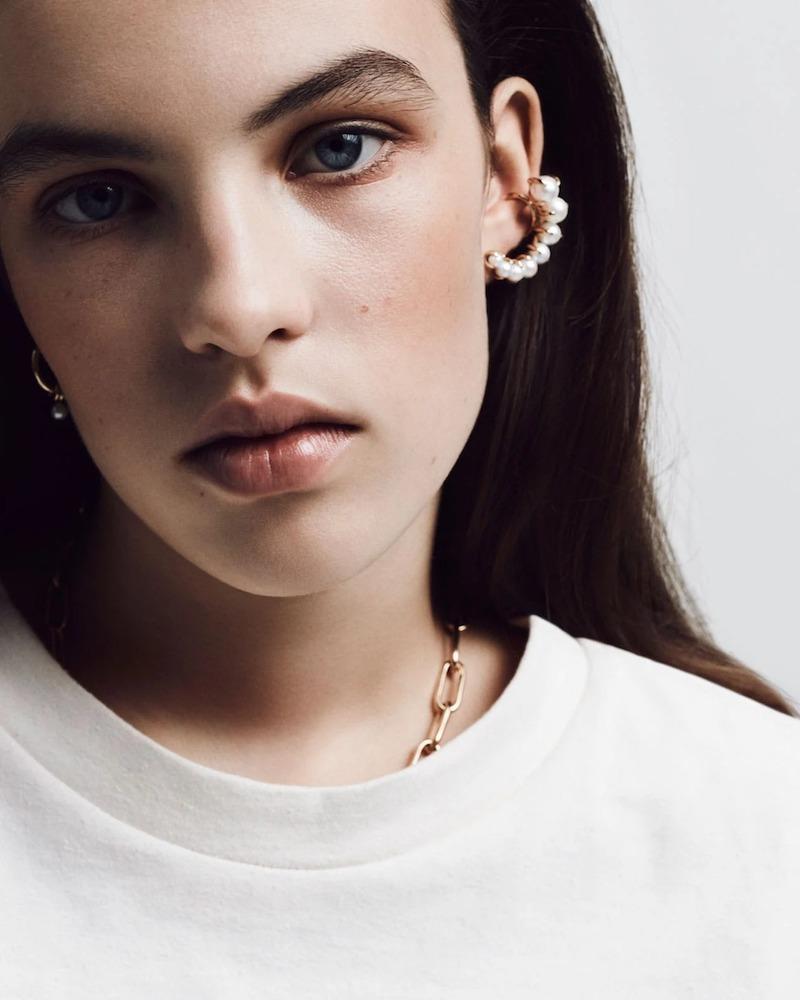 Ana Khouri Marie 18kt Gold & Pearl Ear Cuff