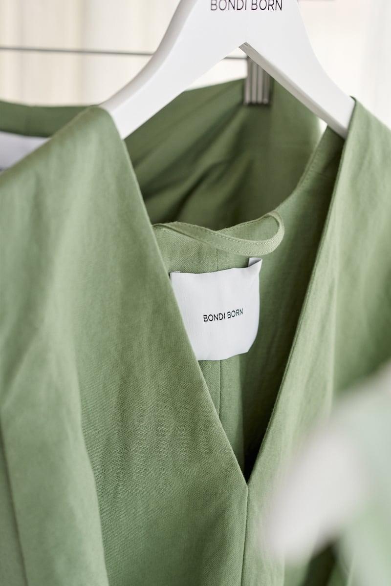 BONDI BORN x NET SUSTAIN x LG Electronics Belted Linen Mini Dress