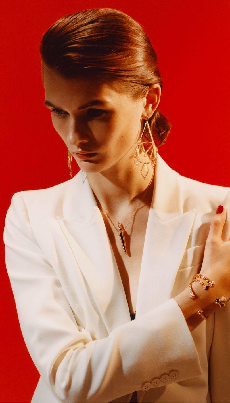Diane Kordas Rose Gold 18-Karat Rose Gold Diamond Earrings