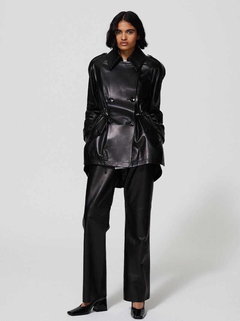 Drome Leather Mini Dress W/ Belt