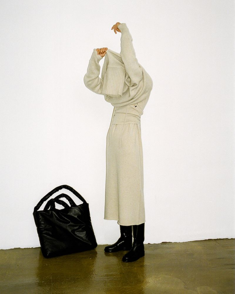 Extreme Cashmere No.138 Rolled-Hem Cashmere-Blend Midi Skirt