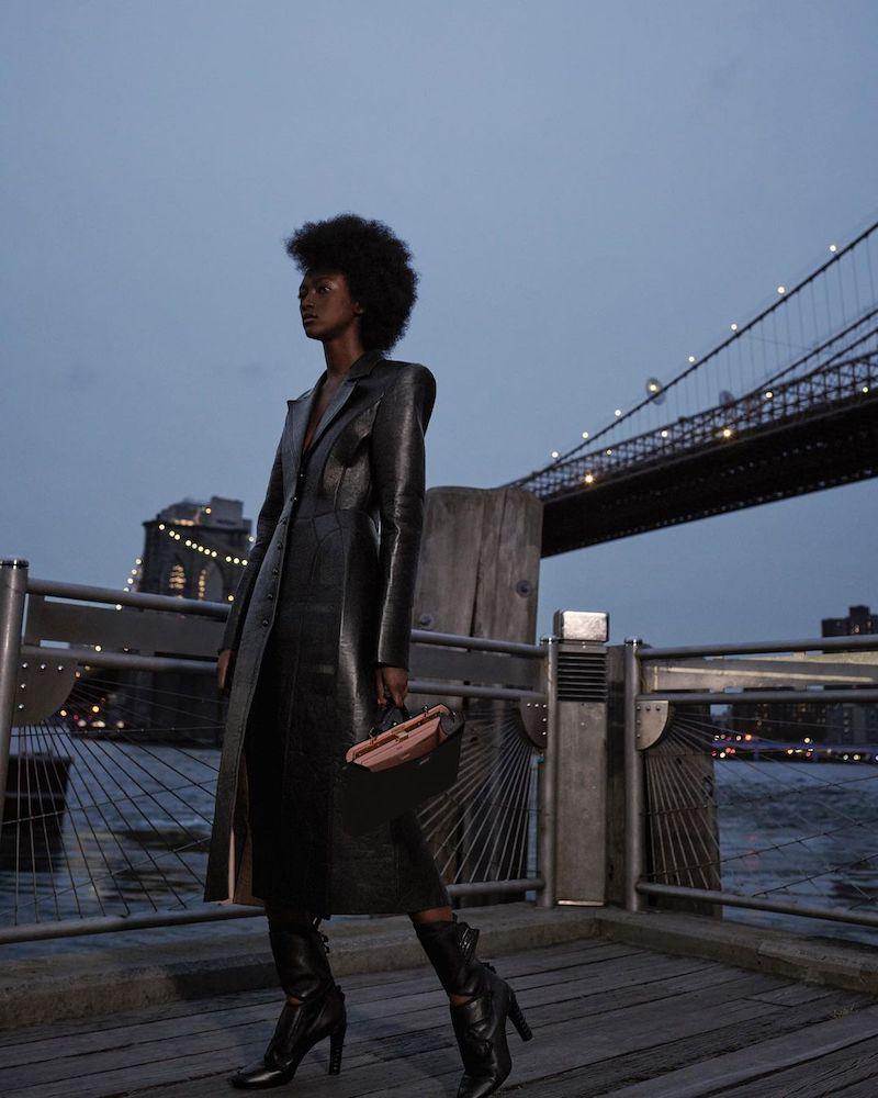 Fendi Bonded Leather Coat