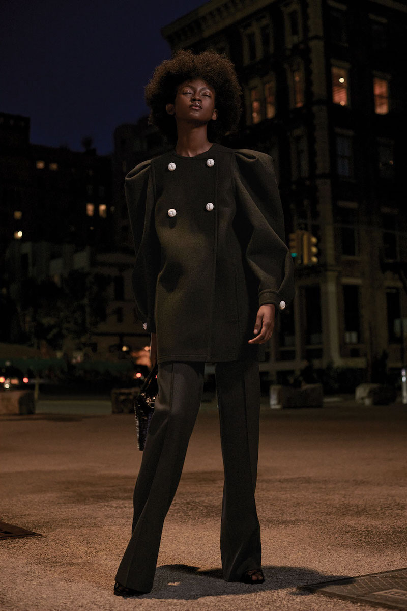 Givenchy Wool Puff-Sleeve Double-Breasted Coat