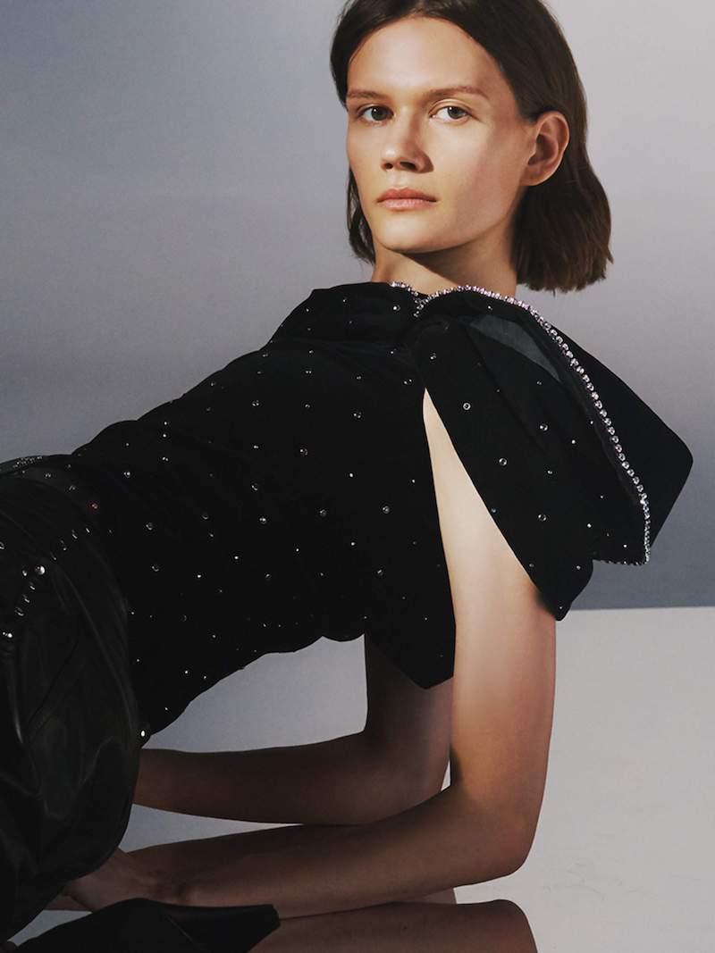 Isabel Marant Off-the-Shoulder Crystal-Embellished Velvet Top