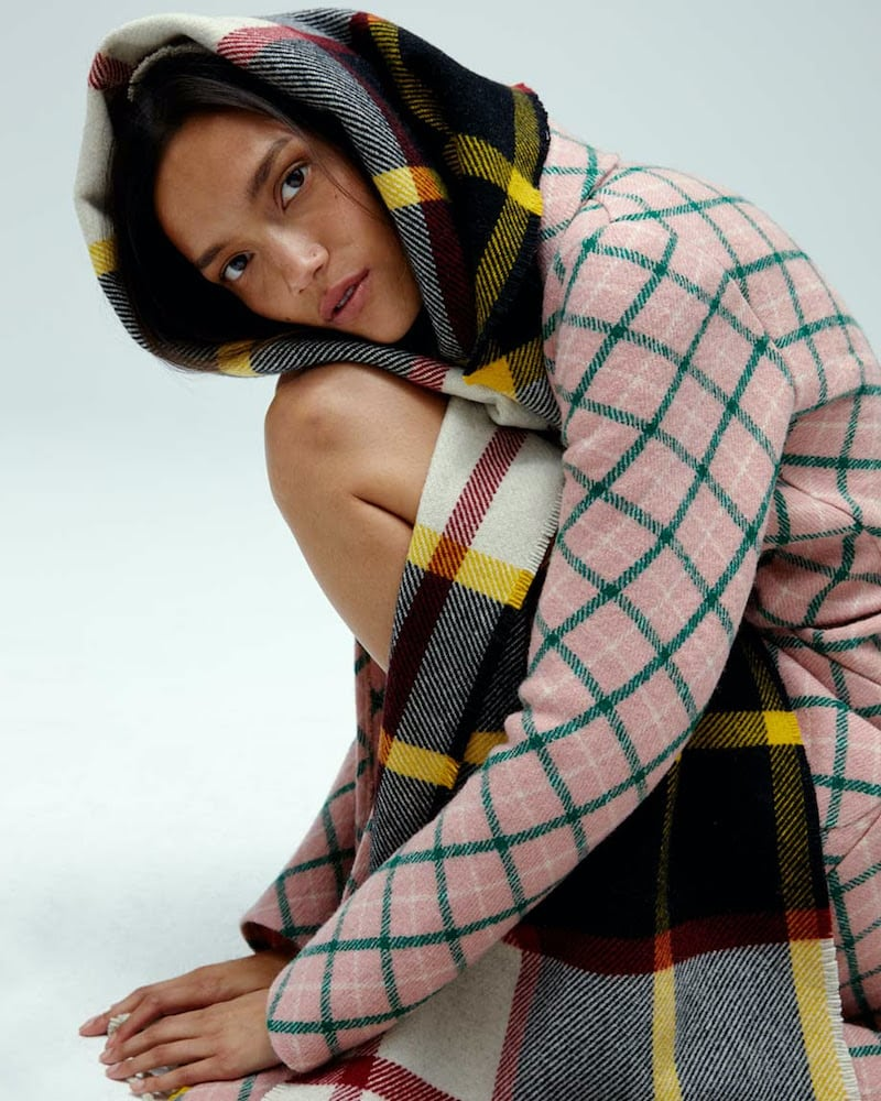 JIl Sander ACNE STUDIOS Checked Mohair and Wool-Blend Scarf
