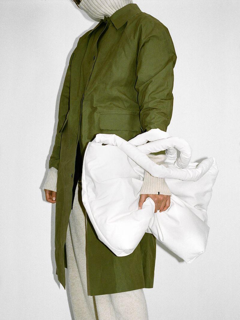 KASSL Editions Original Wax-Coated Cotton Trench Coat