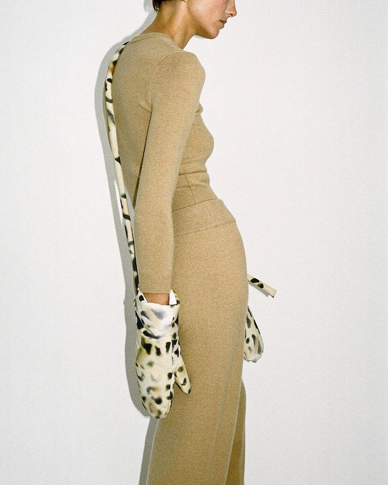 KASSL Editions Tec Leopard-Print Technical Mittens