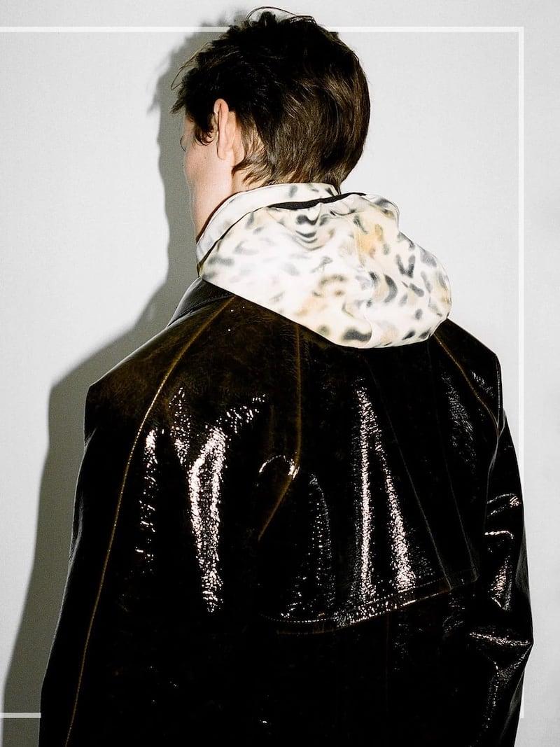 KASSL Editions Vinyl-Coated Wool Longline Coat