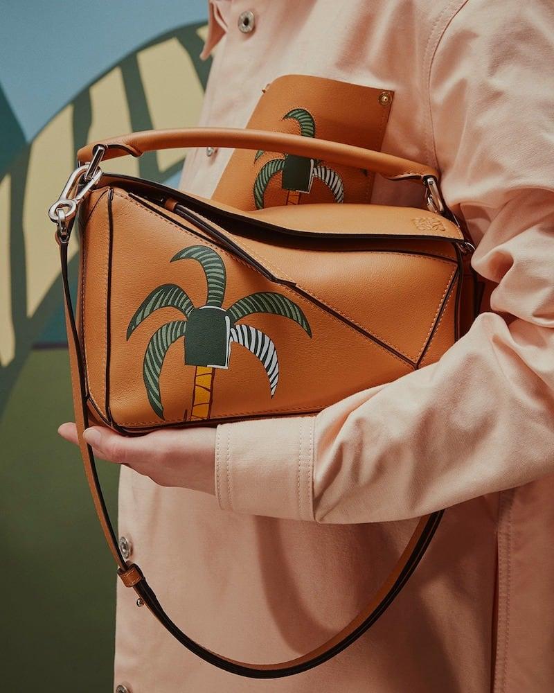 LOEWE x Ken Price Puzzle Mini Leather Shoulder Bag
