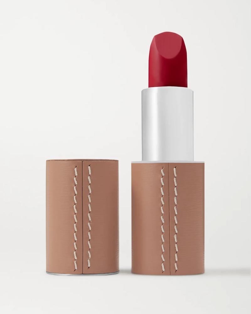 La Bouche Rouge Matte Lipstick Refill - Rouge Vendôme with Refillable Leather Case